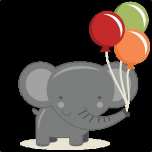 Birthday Elephant SVG cut file birthday svg files birthday svg cutting files free svg cuts