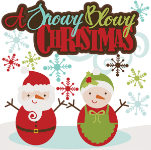 A Snowy Blowy Christmas SVG cutting files santa svg cut files snowman svg cuts free svgs