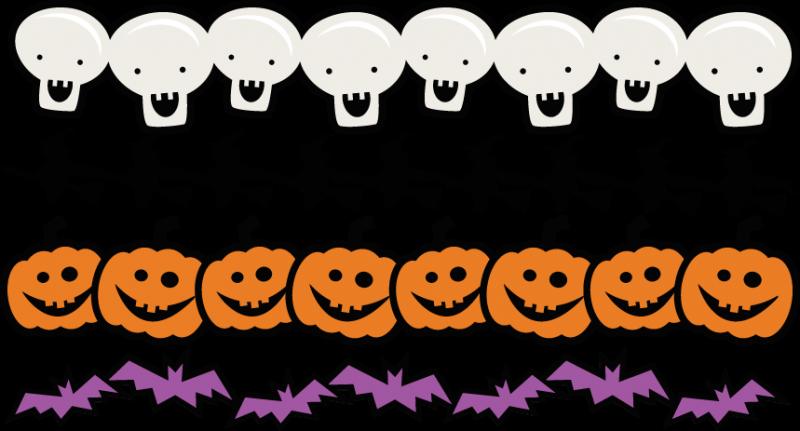 Halloween Borders Set SVG scrapbook title spiderweb svg cut file ...