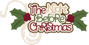 The Night Before Christmas SVG scrapbook title christmas svg cut files free svg cuts