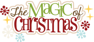 The Magic Of Christmas SVG scrapbook title christmas svg cut file christmas svg scrapbook title