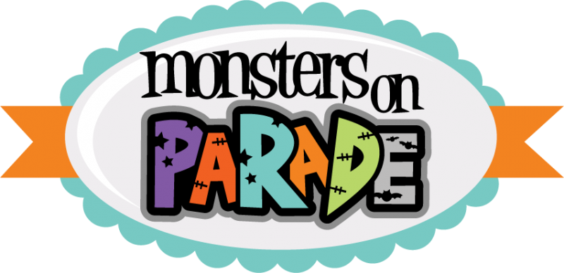 monsters on parade svg cut files for scrapbooking monster svgs cute rh misskatecuttables com parade clip art black and white halloween parade clip art