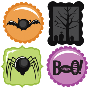 Halloween Icons Set SVG scrapbook title spiderweb svg cut file halloween svg cuts free svgs