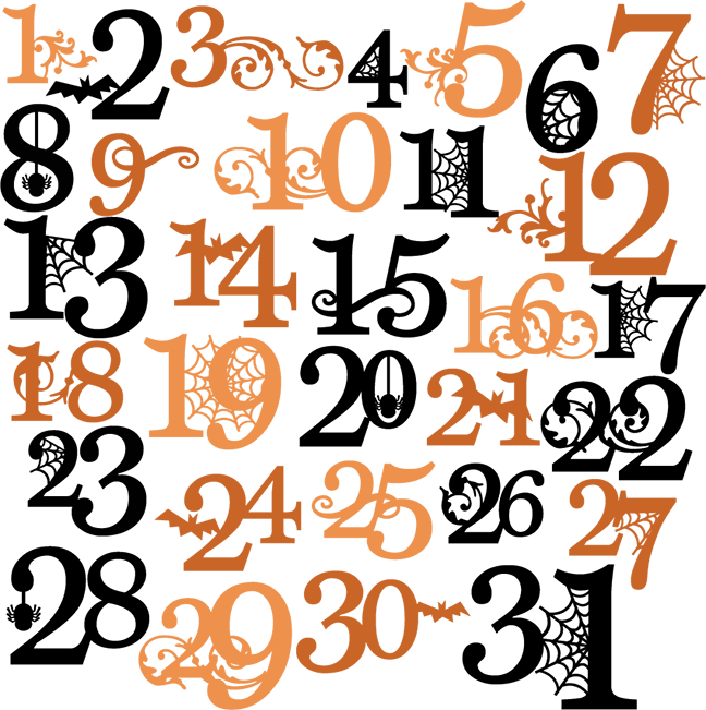 Halloween Numbers Svg Cutting Files Halloween Svg Cuts