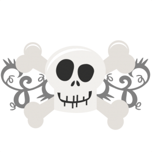 Skull And Crossbones SVG cutting files free svg cuts halloween svg cut files halloween scal files
