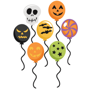 Halloween Balloons SVG cut files halloween svg scrapbook title halloween svg titles free svg cuts