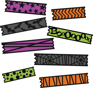 Halloween Washi Tape SVG cut file for electronic cutting machines washi tape cut file for scrapbooking
