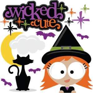 Wicked Cute SVG scrapbook title witch svg scrapbook cut file free svg cuts halloween cut files