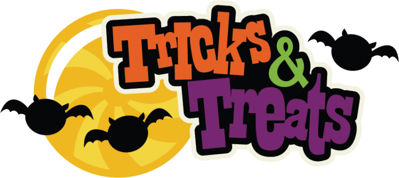 Tricks & Treats SVG scrapbook title halloween svg ...