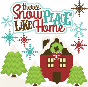 There's Snow Place Like Home SVG cutting files winter svg cuts christmas svg files free svgs