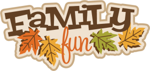 Family Fun SVG scrapbook title fall avg cut file autumn svg files for scrapbooking