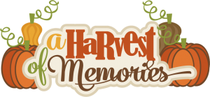 A Harvest Of Memories SVG scrapbook title pumpkin svg cut file fall svg files autumn svgs