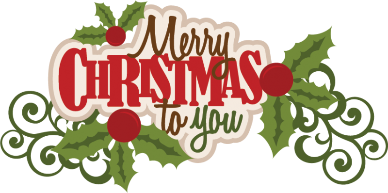 merry christmas to you svg scrapbook title christmas svg