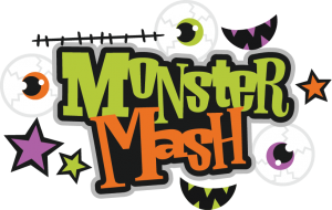 Monster Mash SVG scrapbook title monster svg cut file halloween svg files