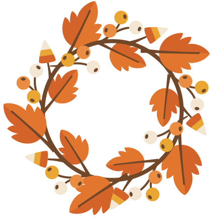 Fall Wreath SVG cutting file for electronic cutting ...