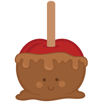 cute caramel apple svg cutting file fall svg cut files