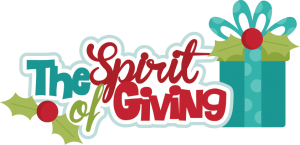 The Spirit Of Giving SVG cutting files christmas svg scrapbook title christmas svg cuts