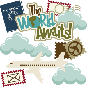 The World Awaits! SVG cutting files for scrapbooking travel svg files vacation svg cuts