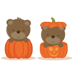 Bears In Pumpkin SVG scrapbook file bear svg file cute bear svg file cute svg cuts free svgs free svg cut files