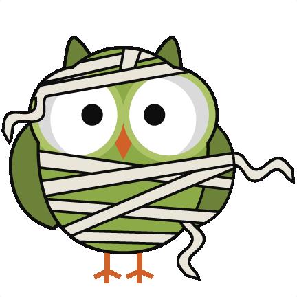 Halloween Mummy Owl SVG cutting files for scrapbooking halloween ...