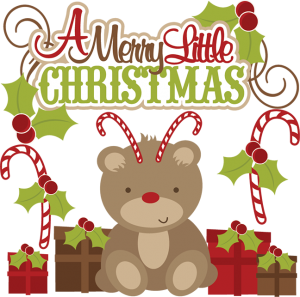 A Merry Little Christmas SVG cutting files christmas svg cuts christmas cut files for scrapbooking