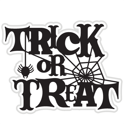 Trick Or Treat SVG Cut File For Scrapbooking Witch Svg