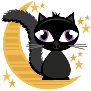 Halloween Cat On Moon SVG cutting files halloween svg cuts free svg files free svg cuts
