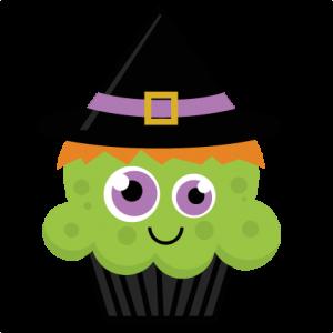 Witch Cupcake SVG cut file halloween svg cut files halloweeen scal cutting files free svg cuts
