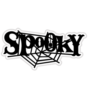 Spooky SVG scrapbook title spiderweb svg cut file halloween svg cuts free svgs