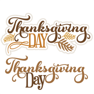 Thanksgiving Day Titles SVG cut files for scrapbooking thanksgiving words clipart  free svg cuts