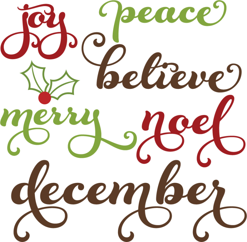 Download Christmas Words SVG cutting files christmas words clipart ...