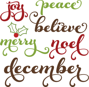 Christmas Words SVG cutting files christmas words clipart free svg cuts
