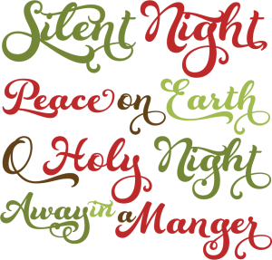 Christmas Phrases SVG cutting files christmas svg scrapbook titles