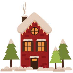 Winter House SVG winter svg cut files winter svg cuts