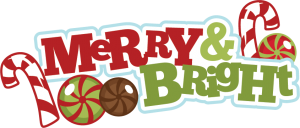 Merry & Bright SVG scrapbook title christmas svg cut files free svgs free svg cuts