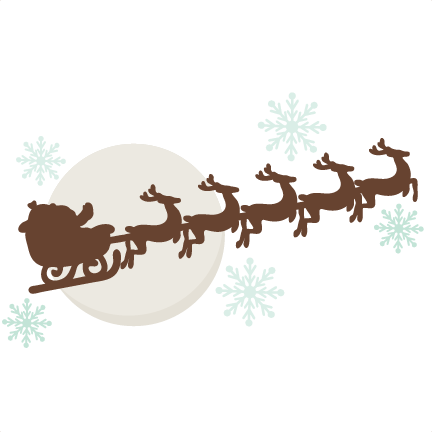 reindeer pulling sleigh svg cutting files free svg cuts christmas