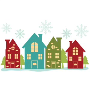 Christmas House Border SVG cutting files christmas svg cuts free svgs free svg cuts