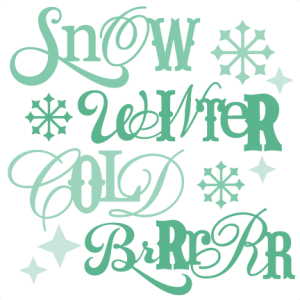 Winter Sentiments SVG winter svg cut files winter svg cuts