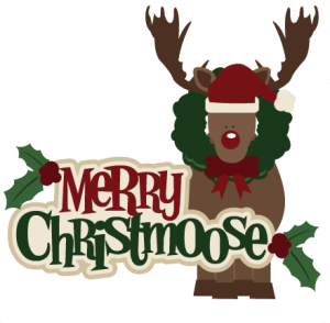 Merry Christmoose SVG cutting files christmas svg files christmas svg cuts free svgs