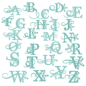 Winter Alphabet SVG cutting files winter svg cuts winter svg cutting files free svg cuts