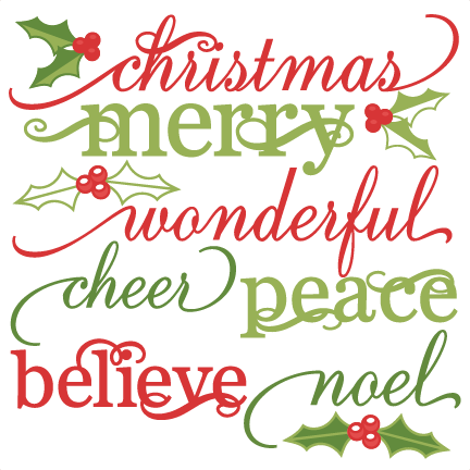 christmas words set cute christmas words clipart svg cutting files christmas svg cuts christmas svg cut files - Christmas Words That Start With S