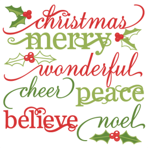 Christmas Words Set cute christmas words clipart SVG cutting files christmas svg cuts christmas svg cut files