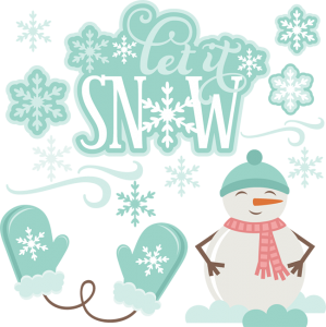 Let It Snow SVG cutting files snowman svg cuts winter svg cut files cute clipart