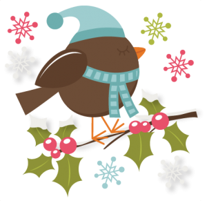 Winter Bird SVG cutting file christmas svg files