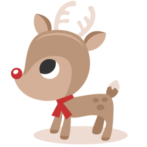 Reindeer SVG cutting files christmas svg cut files winter svgs for scrapbooking cute reindeer clipar