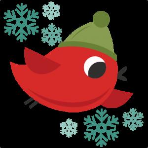 Christmas Bird cute christmas words clipart SVG cutting files christmas svg cuts christmas svg cut files