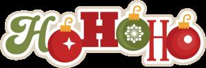 Ho Ho Ho SVG scrapbook title christmas svg scrapbook title christmas svg cutting files