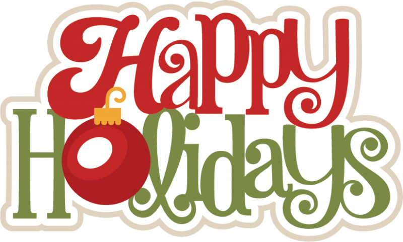 Happy Holidays SVG scrapbook title christmas svg scrapbook title