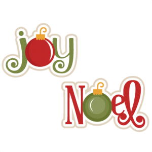 Joy & Noel SVG scrapbook titles christmas svg scrapbook title christmas svg cut files