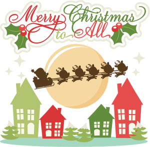 Merry Christmas To All SVG cutting files christmas svg cuts reindeer svg cut files for scrapbooking